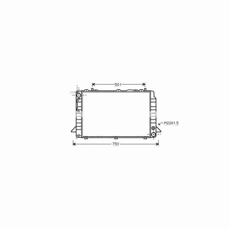 radiateur eau audi 80 90 b4. Black Bedroom Furniture Sets. Home Design Ideas