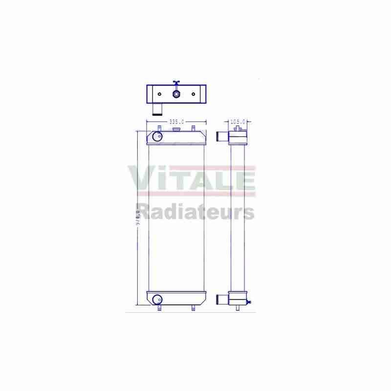 radiateur eau hitachi zx170w3. Black Bedroom Furniture Sets. Home Design Ideas