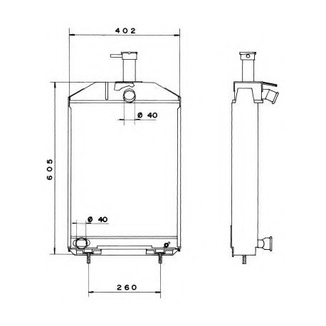 radiateur eau john deere 300 955 717. Black Bedroom Furniture Sets. Home Design Ideas