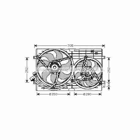 ventilateur de refroidissement moteur volkswagen. Black Bedroom Furniture Sets. Home Design Ideas