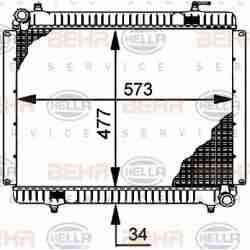 Radiateur EAU POIDS LOURDS MERCEDES-BENZ 813-913-1013-1113