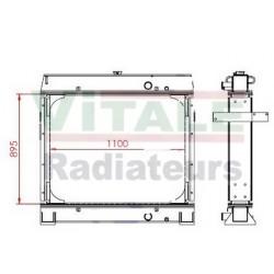 RADIATEUR EAU HITACHI EX500-5 - EX600-5