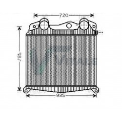 RADIATEUR AIR INTERCOOLER MERCEDES 2207073