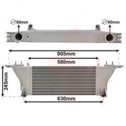 RADIATEUR AIR INTERCOOLER NISSAN NAVARA