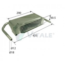 REFROIDISSEUR HUILE DEUTZ 02234409 6807 6907 7007 7207 Agrocompact 3.70V/F Agroprima 4.31 Agroxtra 4.07 DZ234409