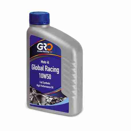 HUILE GLOBAL RACING OIL 4T GLOBAL RACING 10W50 100% SYNTHESE BIDON 1L